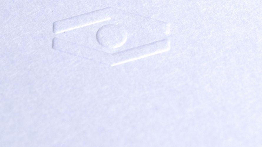 型押し(エンボス加工)名刺印刷
